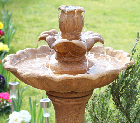 70cm Ruthwell Solar Bird Bath Water Feature by Solaray™