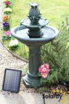 72cm Dunmore Solar Bird Bath Water Feature by Solaray™