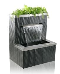 Malacca Rattan Planter Cascading Water Feature H90cm x W74cm
