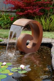 H65cm Sentosa Corten Steel Cascade Water Feature (No Reservoir)