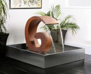 Sentosa 65cm (2ft 1in) Corten Steel Cascade with Stainless Steel Reservoir