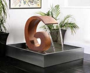 H65cm Sentosa Cascade Corten Steel Water Feature | Indoor/Outdoor Use - By Ambienté