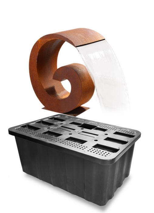 Sentosa 65cm (2ft 1in) Corten Steel Cascade with Plastic Reservoir by Ambienté™