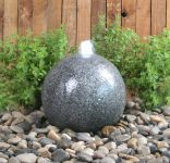 Barron Falls 28cm Granite Touch Sphere Water Feature with LED Lights by Ambient�
