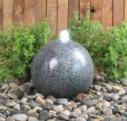 Barron Falls 28cm Granite Touch Sphere Water Feature with LED Lights by Ambienté™
