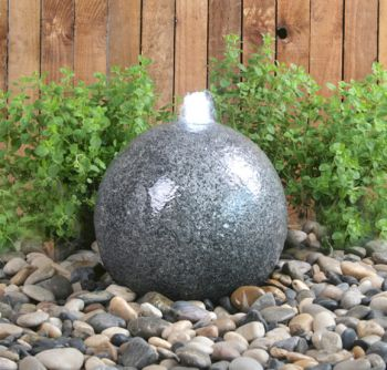 Barron Falls 28cm Granite Touch Sphere Water Feature with LED Lights by Ambienté