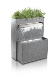 H89cm Cascata Delle Granite Touch Waterfall Cascade Planter with LED Lights by Ambienté™
