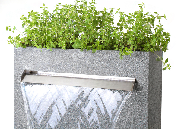 Cascata Delle Granite Touch Waterfall Cascade Planter with LED Lights - H89cm x W72cm by Ambienté