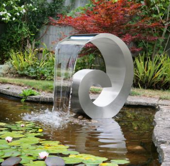 Atlantis 65cm (2ft 13in) Stainless Steel Cascading Water Feature with LED Lights - No Reservoir