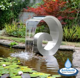 Atlantis 65cm (2ft 1½in) Stainless Steel Cascading Water Feature with LED Lights - No Reservoir- Ambienté™