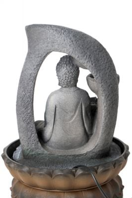 Buddha Table Top Water Feature with Light W20.5cm x H30cm