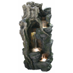 Forest Falls Water Feature with LED Lights