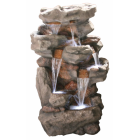 Cascading Rock Falls Water Feature with LED Lights