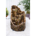Walnut Falls Water Feature with LED Lights