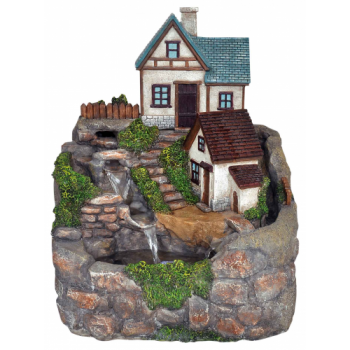Bramble Cottage Water Feature with LED Lights