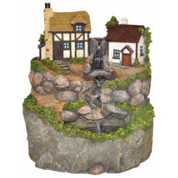 Old Mill Cottage Water Feature with LED Lights