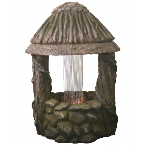 Wishing Well Water Feature with LED Lights From Henri Studios