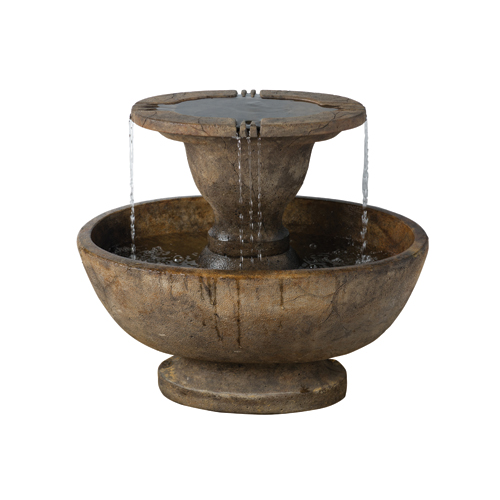 Alfresco Fountain Fountain inc Light - Relic Lava From Henri Studios
