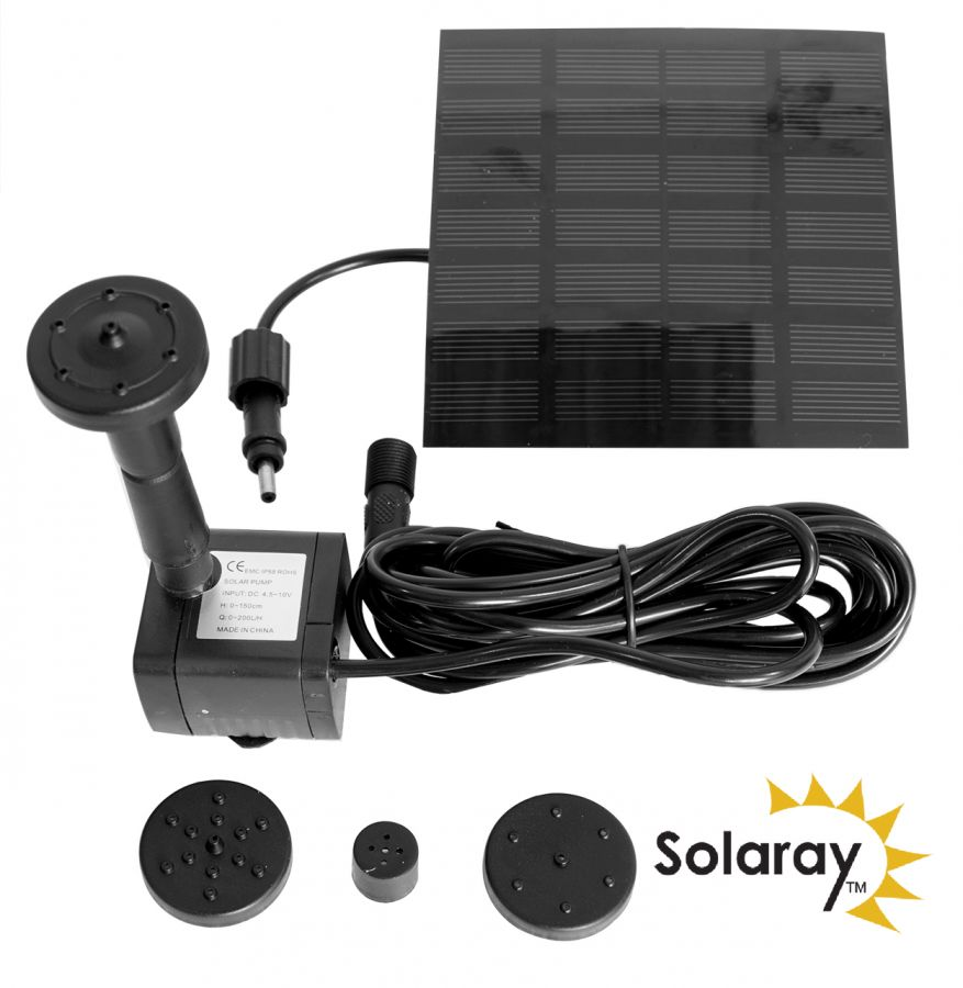 150LPH Solar Water Pump Kit with 4 Fountain Heads by Solaray