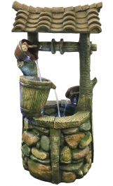 Tudor Wishing Well with LED Lights - H105cm