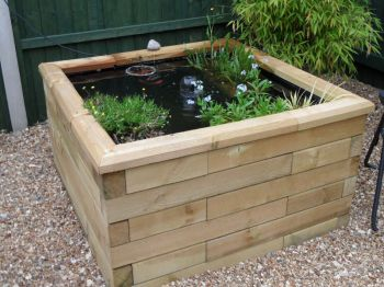 Raised Garden Deck Pond - L1.8m x W1.8m x H45cm