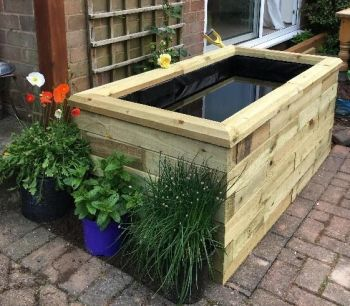 Raised Garden Deck Pond - L1.5m x W75cm x H65cm
