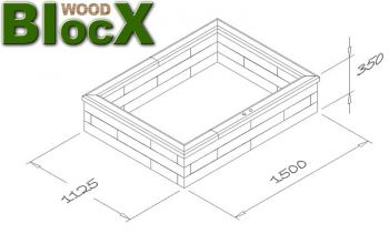 Raised Garden Deck Pond - L1.5m x W1.1m x H35cm