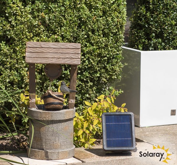 50cm solar wishing well water feature by solaray. Black Bedroom Furniture Sets. Home Design Ideas