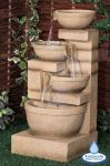 85cm Kendal Cream 3-Tier Cascade Water Feature with Lights by Ambienté™