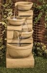 85cm Kendal Cream 4-Tier Cascade Water Feature with Lights by Ambienté™