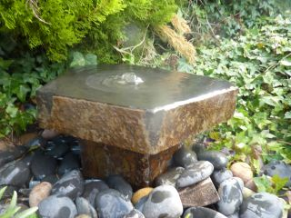 Polished Basalt Babbling Column Water Feature
