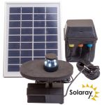 300LPH Solar Water Feature Pump with Lights and Battery Back Up by Solaray™
