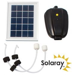Solar Oxygenator / Pond Aerator 2 Stone with Battery Back Up by Solaray™
