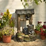 Three-Tiered Wishing Well Water Feature - 55cm