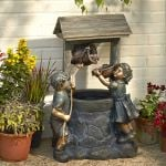 Jack & Jill Two-Tiered Water Feature - 89.5cm