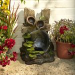 Two-Tiered Rustic Jug Water Feature - 57.5cm