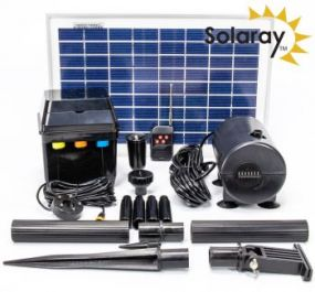 800LPH Solar Water Pump Kit with LED lights by Solaray™