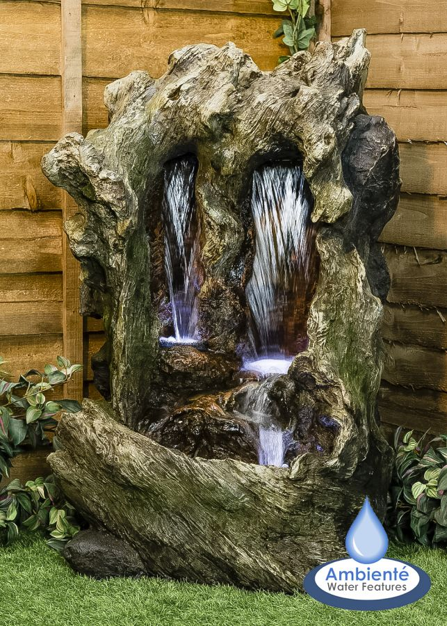 H98cm Colorado Falls Cascading Water Feature with Lights - by Ambienté