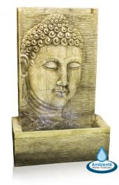 1m Nirvana Buddha Falls Water Feature with Lights by Ambienté