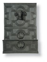 51cm Rams Head Fountain in Faux Lead