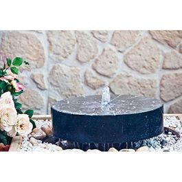 Terrazzo Millstone Water Feature with Light - Diameter 66cm