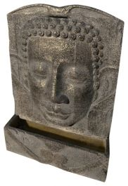 H80cm Buddha Wall Fountain in Polystone Water Feature
