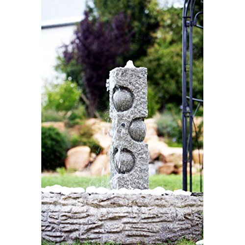 Pistacho Granite Water Feature with Lights