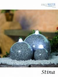 Stina Granite Water Feature with Lights