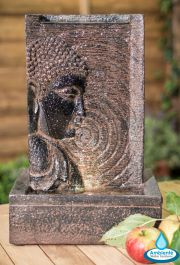 24cm Buddha Tabletop Wall Water Feature with Lights - by Ambienté™