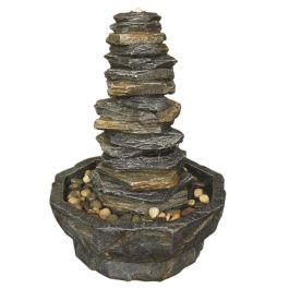 Stacked Slate Monolith Natural Style LED Water Feature