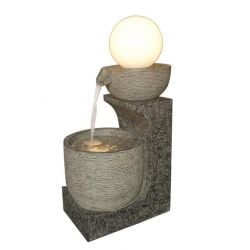 Pouring Glowing Globe Modern Style LED Water Feature