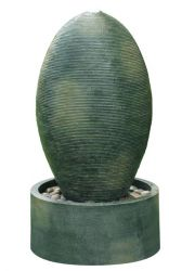 Ripple Green Oval LED Water Feature