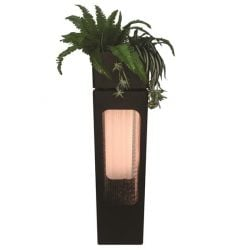 Viterbo Zinc Metal Rain Effect LED Water Feature