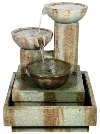 Medium Trio Cascade Fountain LED Water Feature